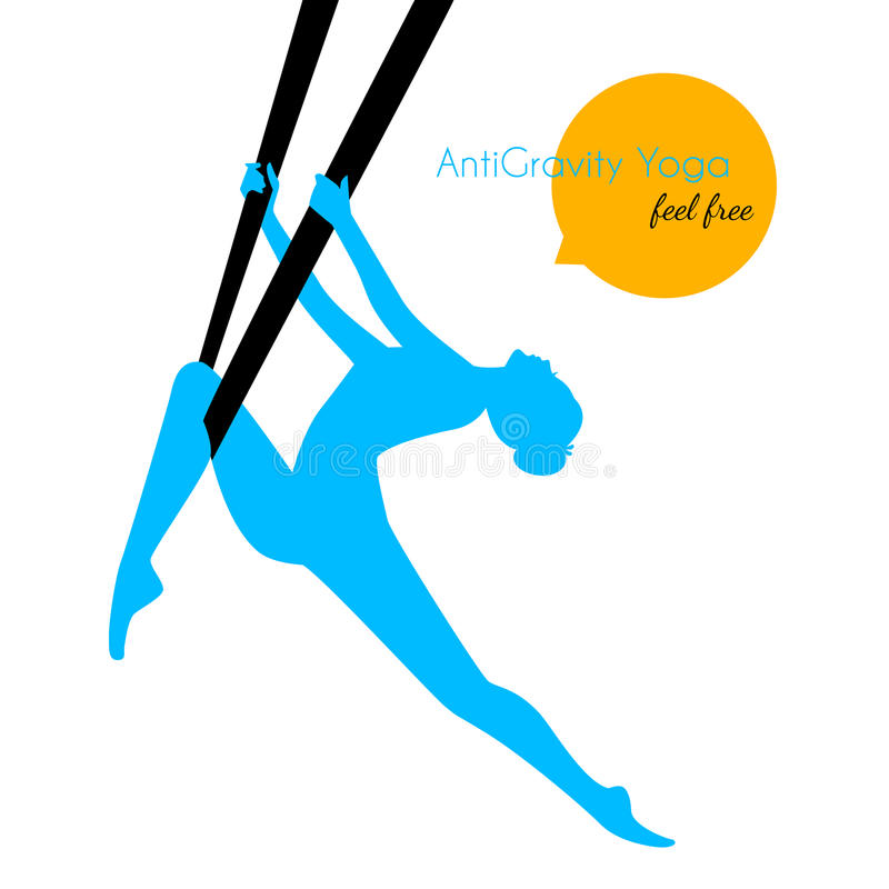 Spoważnienia joga poz kobiety sylwetka ilustracji