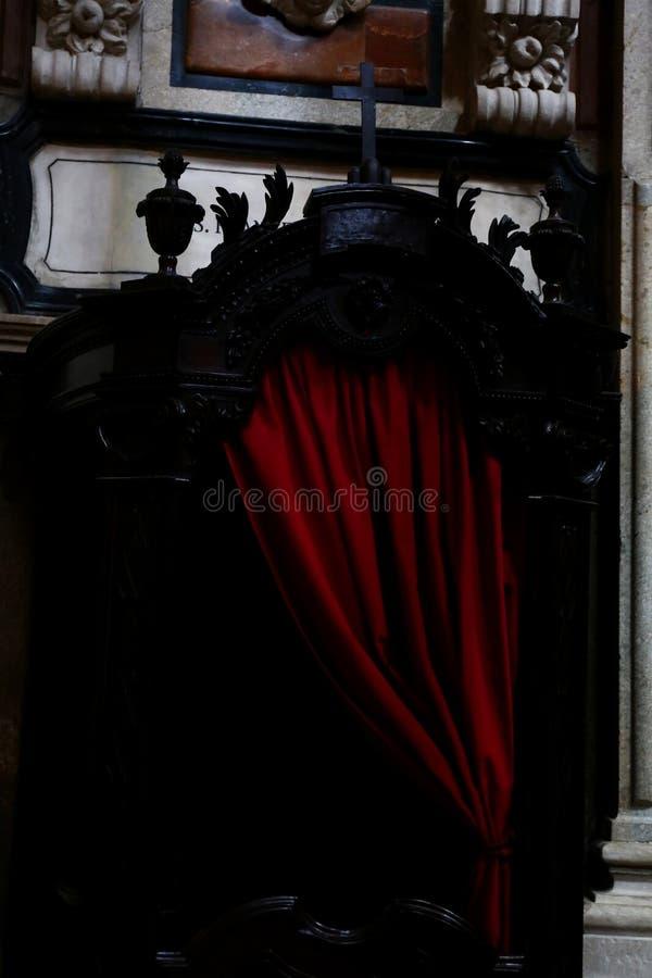 Spowiedniczy budka obrazy royalty free