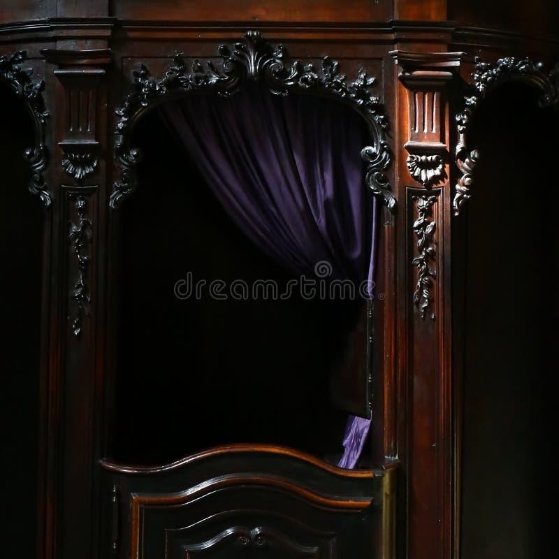 Spowiedniczy budka zdjęcie royalty free