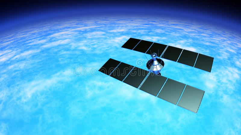 Spowodowany przez człowieka satelita royalty ilustracja