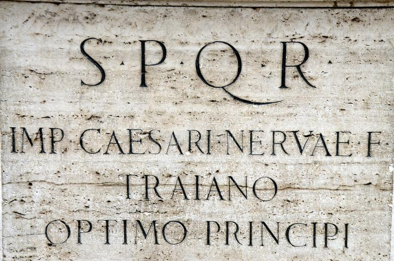 SPQR - Senatus Populusque Romanus стоковое изображение rf
