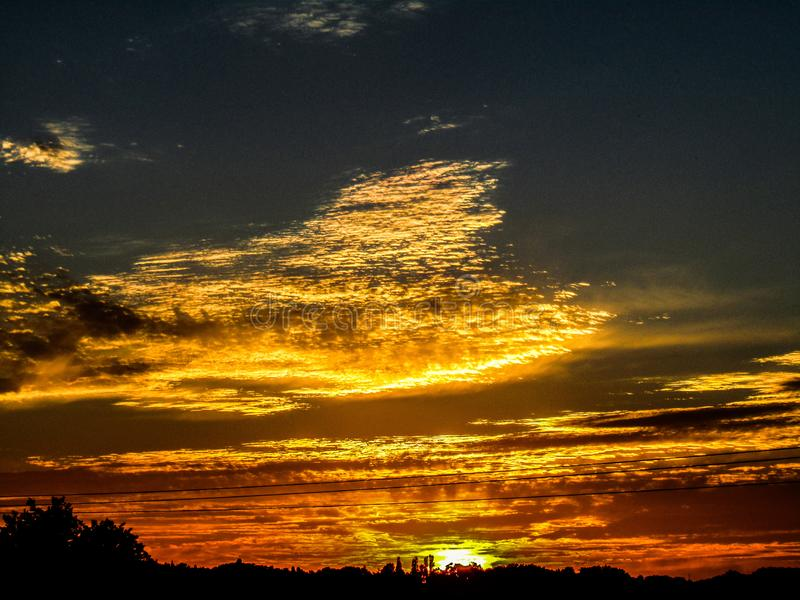 Spränga solnedgång arkivbilder