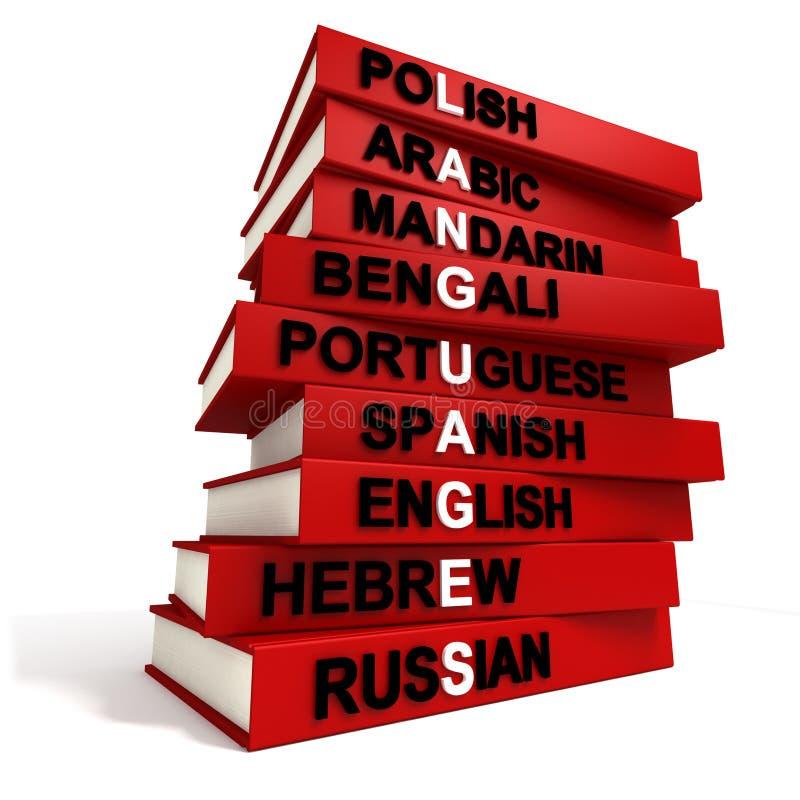 språkvärld royaltyfri illustrationer