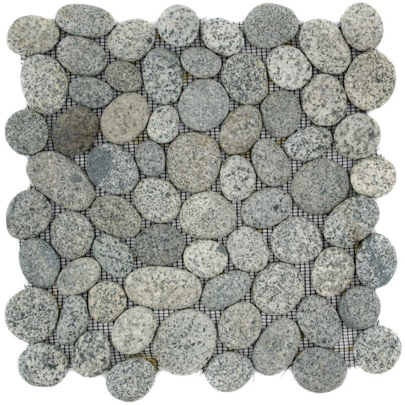 spräcklig stenwhite för svart grå mosaik arkivbild