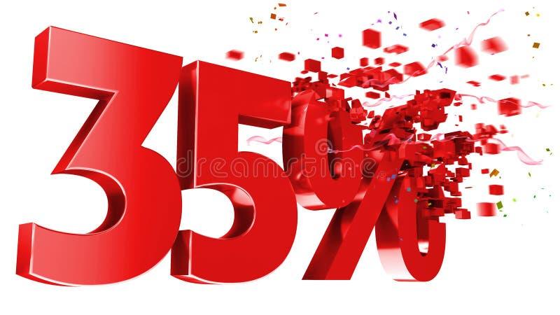 sprängämne för 35 bakgrund av procentwhite royaltyfri illustrationer