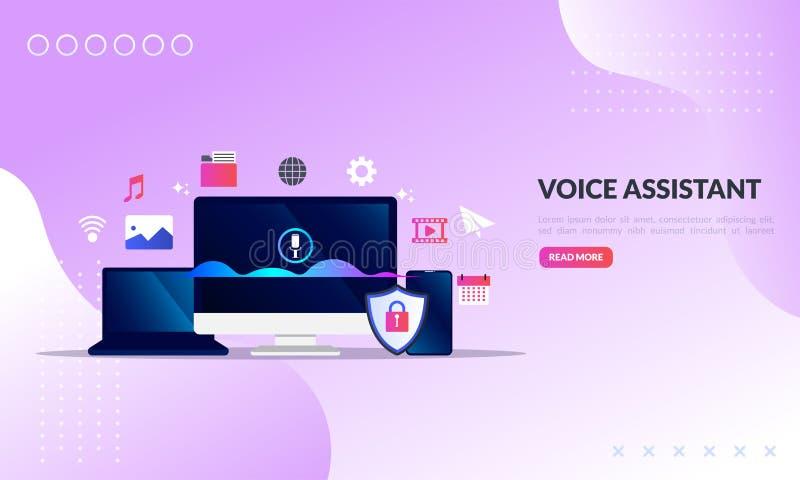 Sprachbehilfliches Konzept, Bildschirm mit intelligenten Technologien der Schallwelle, Technologie für Anerkennung der persönlich stockfotos