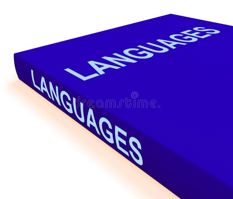 Sprachbuch zeigt Bücher über Sprache vektor abbildung