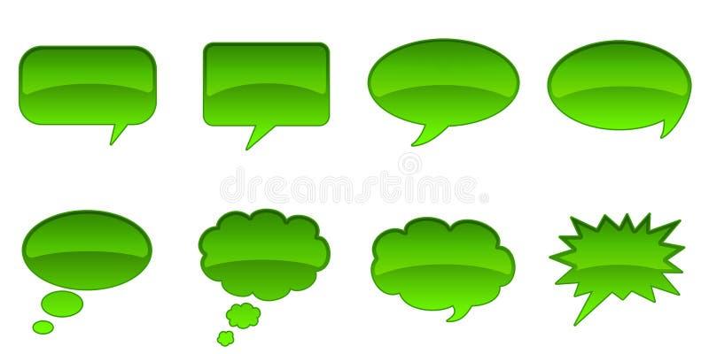 Sprache-Blasen stockbilder