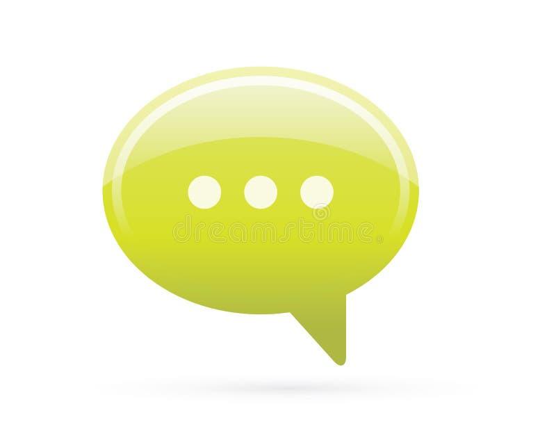 Sprache-Blasen-Chat-ausführliche Ikone vektor abbildung