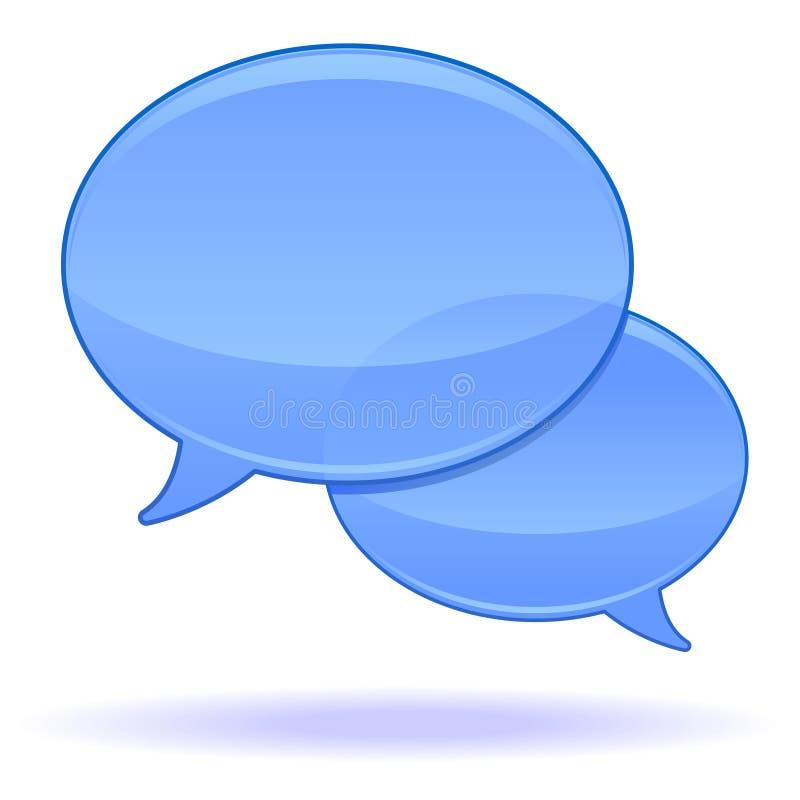 Sprache-Luftblasen stock abbildung