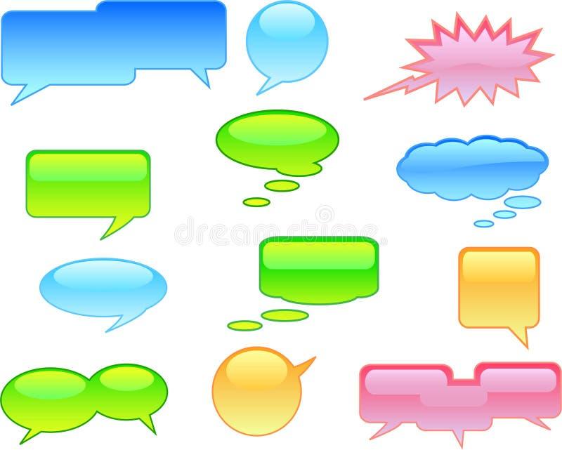 Sprache-Luftblasen vektor abbildung