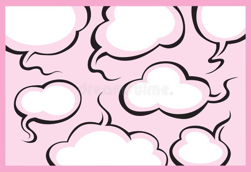 Sprache-und Gedanken-Luftblasen vektor abbildung