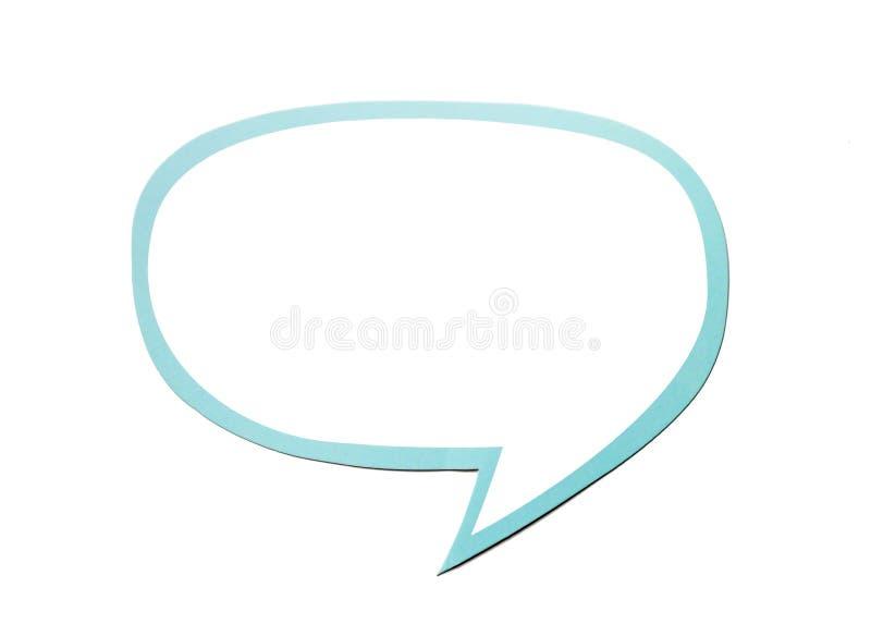 Spracheblase als Wolke mit der blauen Grenze lokalisiert auf weißem Hintergrund Kopieren Sie Platz vektor abbildung