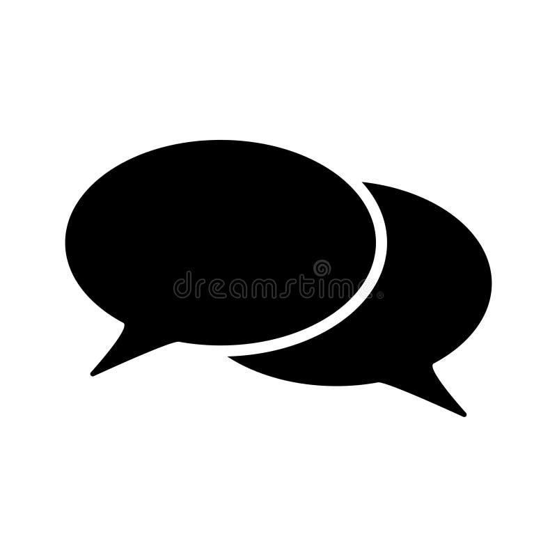 Spracheblase für weißen Hintergrund der Gesprächsikone vektor abbildung