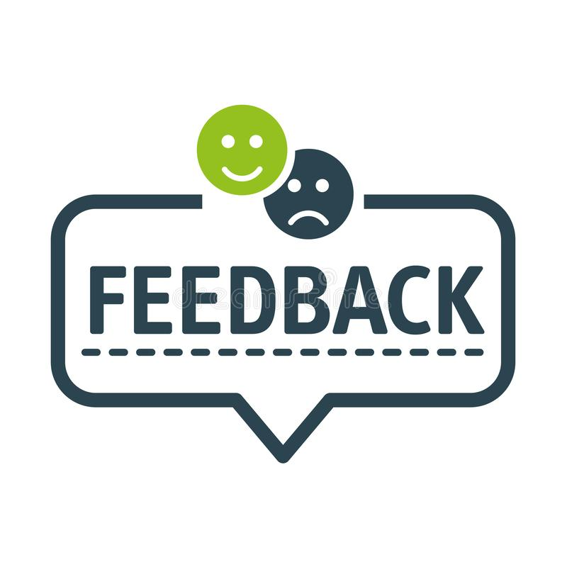 Spracheblase FEEDBACK Vektor-Illustration stock abbildung