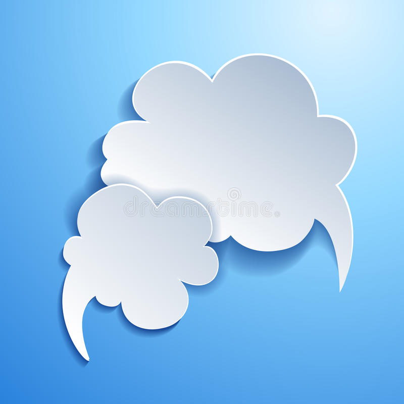 Spracheblase. Wolke vektor abbildung