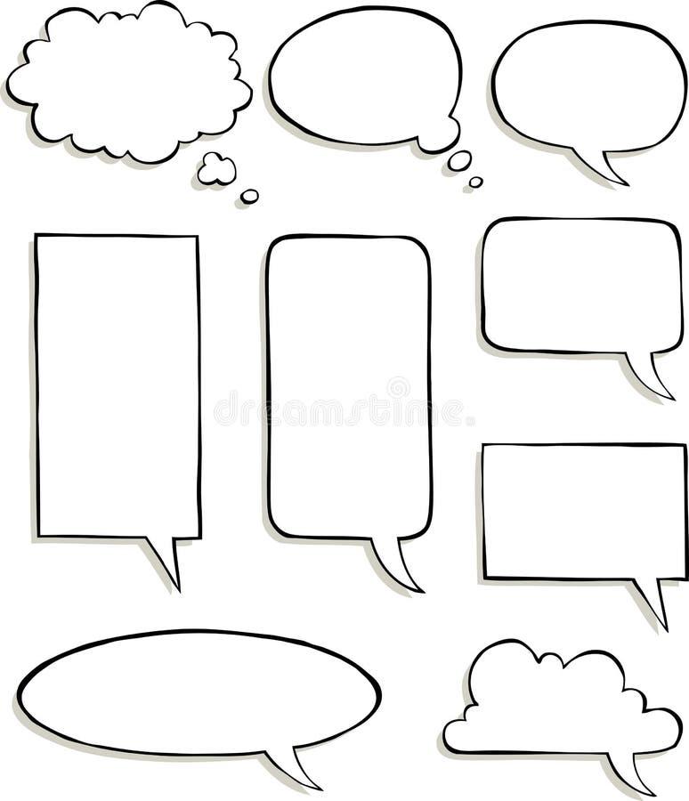 Spracheblasen stock abbildung