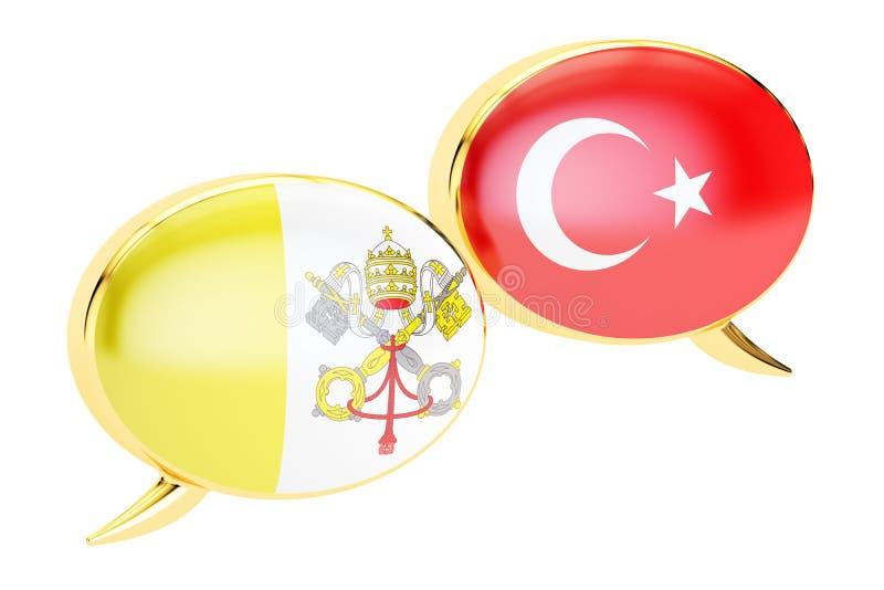 Spracheblasen, Lateinisch-türkisches Gesprächskonzept Wiedergabe 3d lizenzfreie abbildung