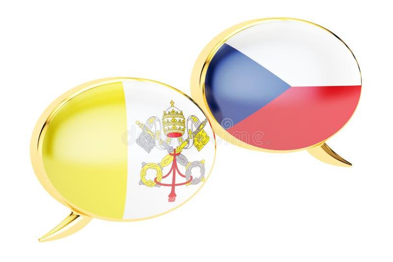 Spracheblasen, Lateinisch-tschechisches Gesprächskonzept Wiedergabe 3d vektor abbildung