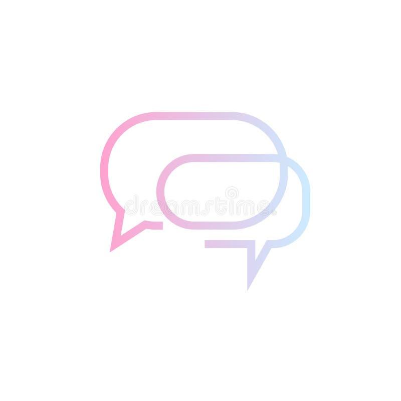 Spracheblasenikone Eine von gesetzten Netzvektorikonen lizenzfreie abbildung