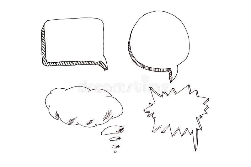 Spracheblasenikonen stellten mit Platz für Ihren Text ein lizenzfreies stockfoto