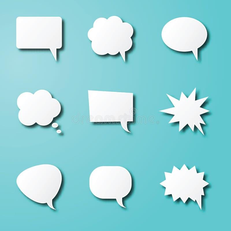 Spracheblasenpapierkunst vektor abbildung