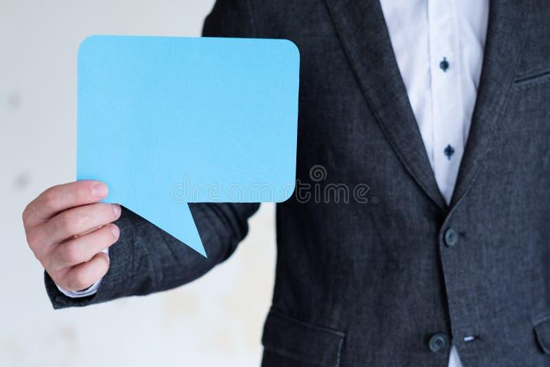Spracheblasensocial media-Geschäftskommunikation stockfotografie