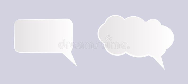 Spracheblasentextikone, Illustration - Vektor lizenzfreie abbildung