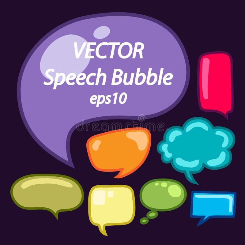 Spracheblasenvektorsatz, EPS10 vektor abbildung