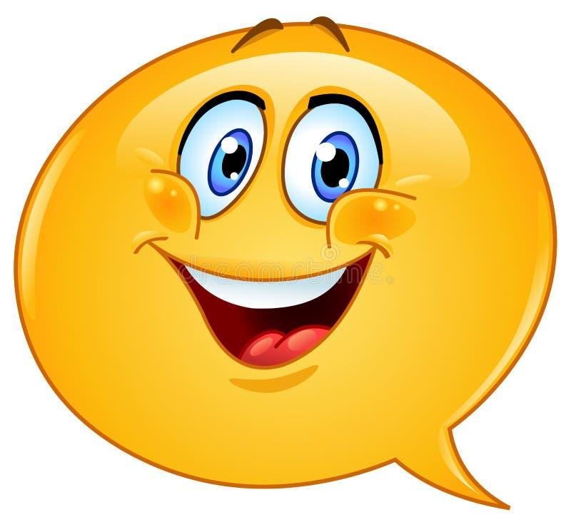 Spracheluftblase Emoticon stock abbildung