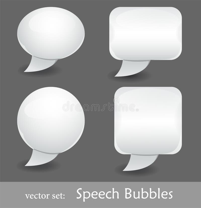 Spracheluftblasen stock abbildung