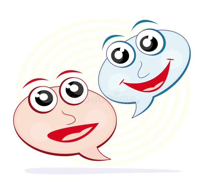 Spracheluftblasenkarikaturen Stockfotos