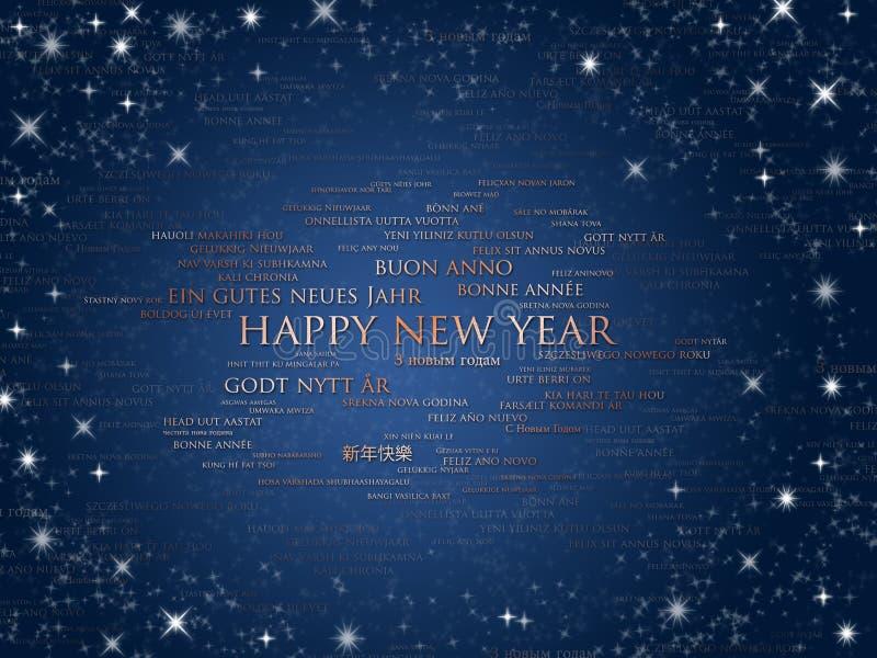 Sprachen des glücklichen neuen Jahres Welt vektor abbildung