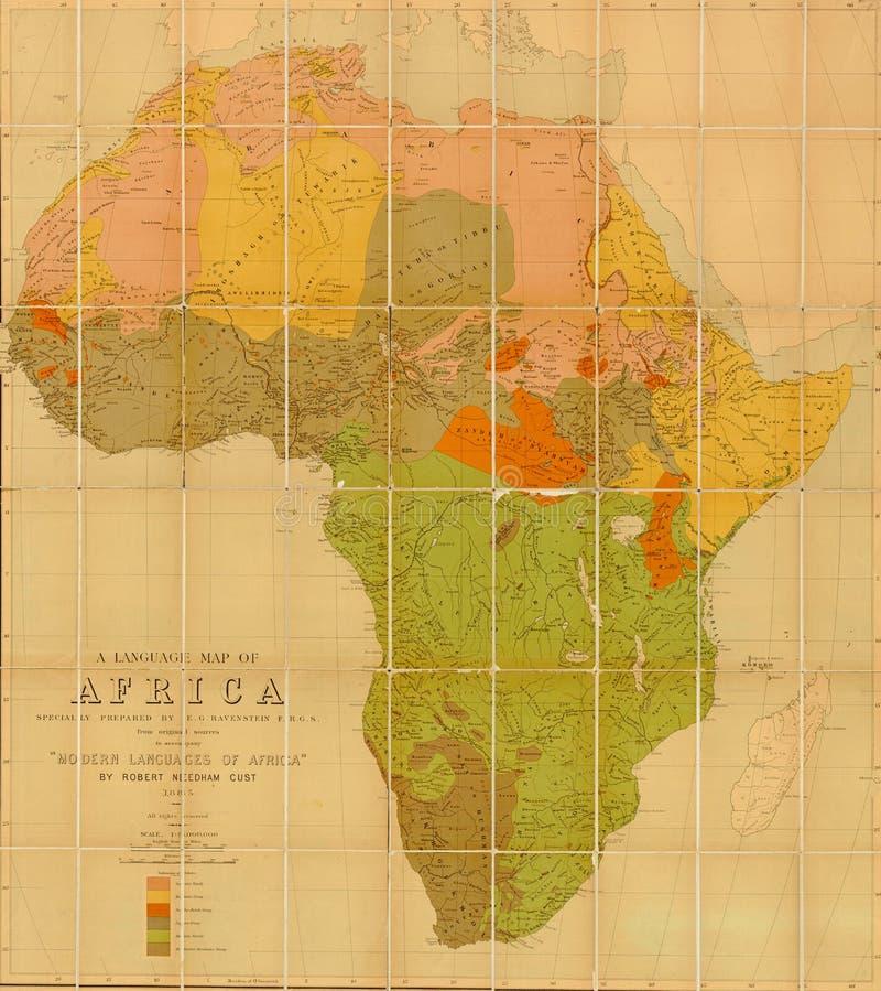 Sprachkarte von Afrika lizenzfreie abbildung