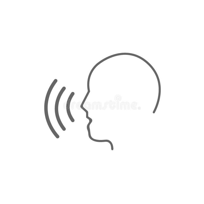 Sprachsteuerikone auf Weiß lizenzfreie abbildung
