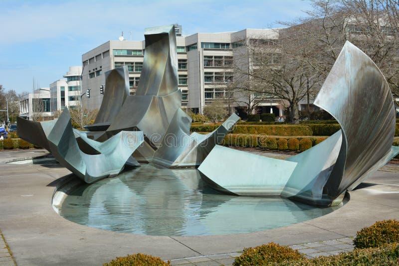 Sprague fontanna w Salem, Oregon zdjęcie royalty free