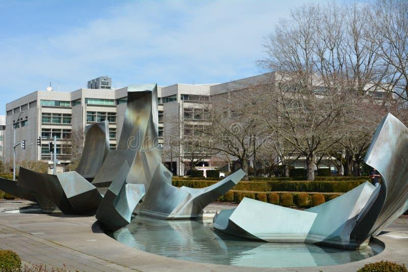 Sprague Fountain image 2 à Salem, Orégon photographie stock libre de droits