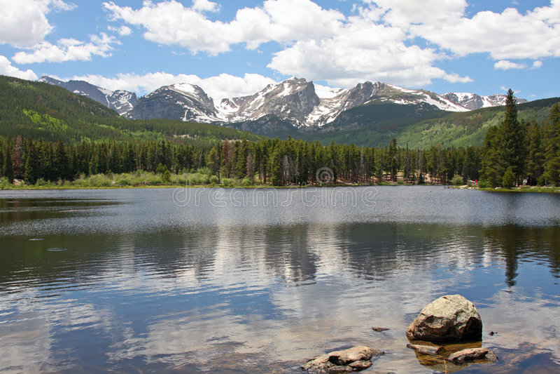 Sprague Lake in Colorado royalty free stock photography