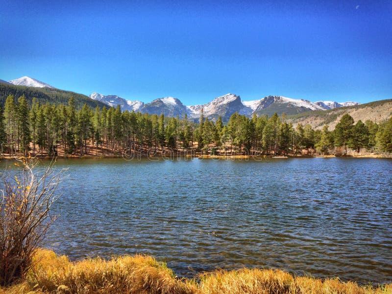 Sprague Lake RMNP immagini stock