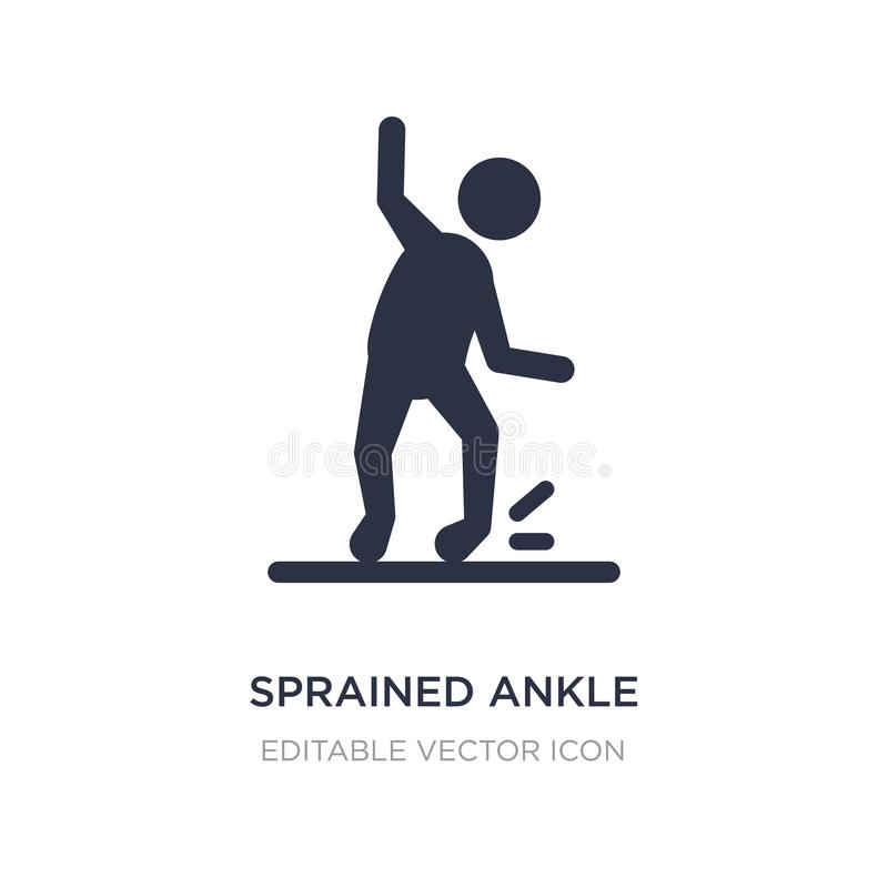 sprained ankle icon on white background. Simple element illustration from Sports concept stock illustration