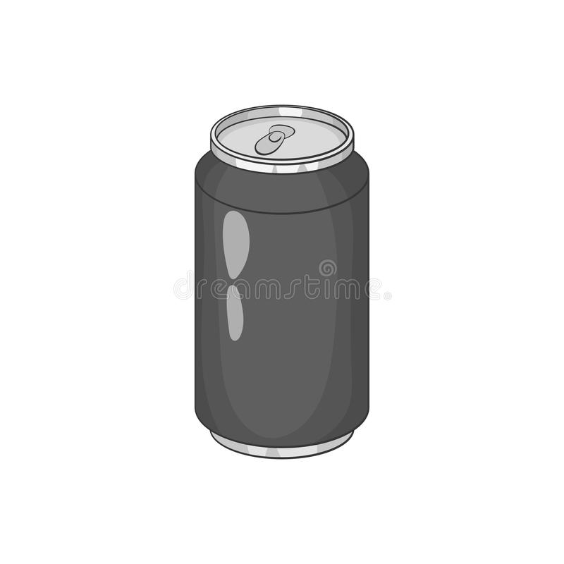 Sprankelend drankpictogram, zwarte zwart-wit stijl stock illustratie