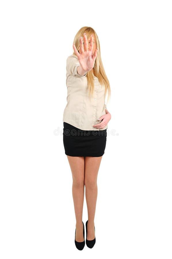 sprawa odizolowana kobieta obrazy stock