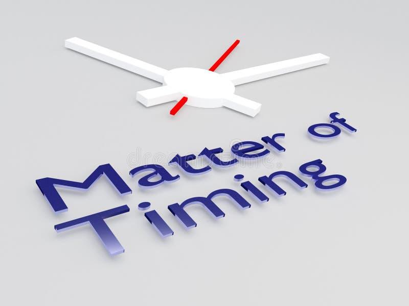 Sprawa Timing pojęcie royalty ilustracja