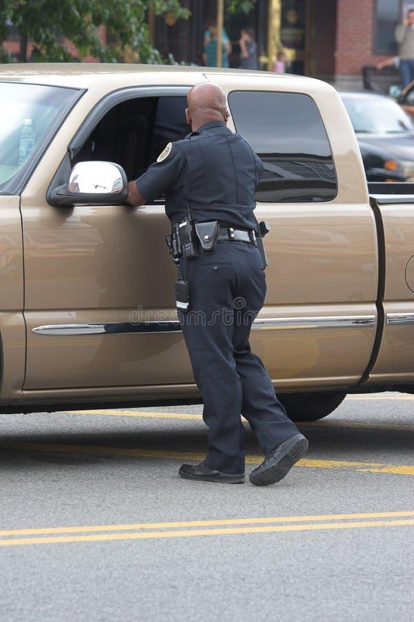 sprawdźcie samochody policjanta obraz stock