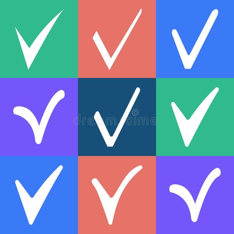 sprawdzać ikonę zdjęcie stock