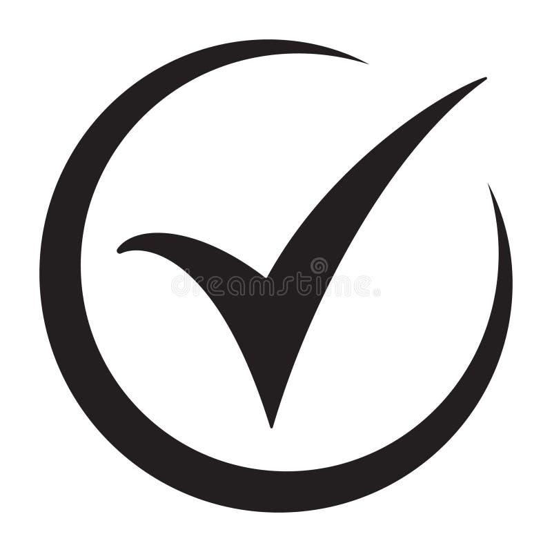 sprawdzać ikonę Checkmark wektor Zatwierdzony symbol Ok ikona Sprawdza guzika znaka Kleszczowa ikona checkpoint Najlepszy nowożyt ilustracja wektor