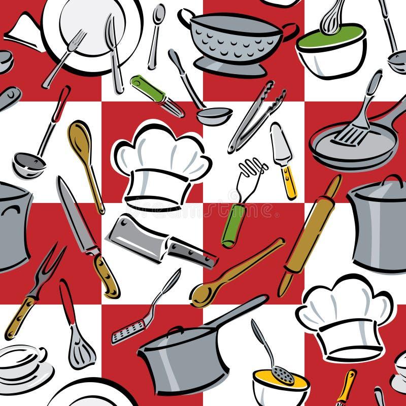 sprawdzać kuchennych narzędzia ilustracja wektor