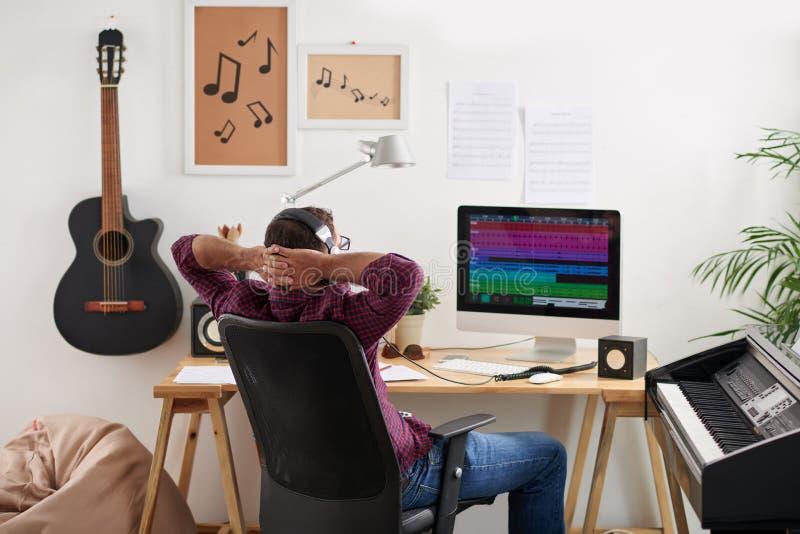Sprawdzać muzyka ślad fotografia stock
