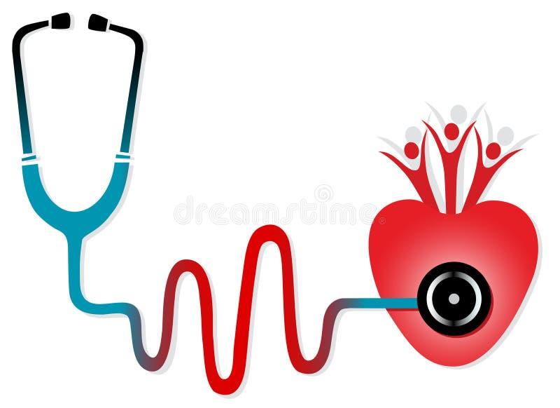 sprawdzać zdrowie stetoskop ilustracja wektor