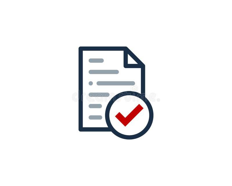 Sprawdza dokument ikony loga projekta element ilustracji